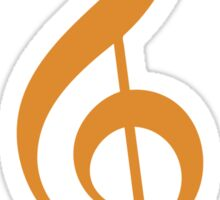 Treble Clef - Orange Sticker