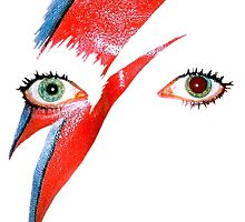 David Bowie Ziggy Stardust Lightning Bolt by 5RoundsRapid