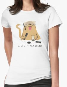 lab-rador Womens Fitted T-Shirt