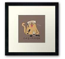 lab-rador Framed Print