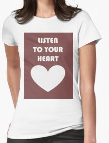 listen Womens Fitted T-Shirt