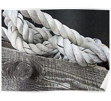 Wood and Rope Poster