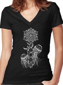Black Jellyfish Women's Fitted V-Neck T-Shirt