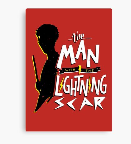 The Man with the Lightning Scar Canvas Print