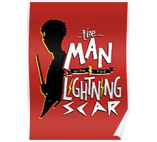 The Man with the Lightning Scar Poster
