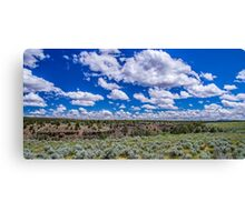 Big Sky and Sage Brush Canvas Print
