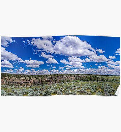 Big Sky and Sage Brush Poster
