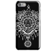Geometric Mandala Black iPhone Case/Skin