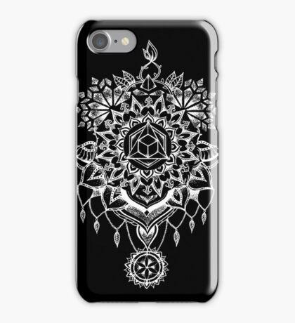 Geometric Mandala Black iPhone Case/Skin