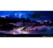 Canberra Lightning Storm Photographic Print