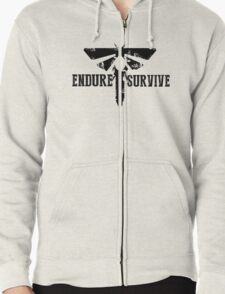 """The Last of Us """"Endure and Survive"""" Firefly Emblem Zipped Hoodie"""