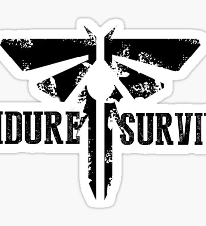 """The Last of Us """"Endure and Survive"""" Firefly Emblem Sticker"""