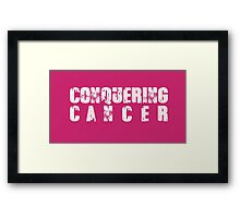 CONQUERING CANCER Framed Print