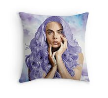 Frozen Purple Hair Throw Pillow