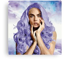 Frozen Purple Hair Canvas Print