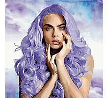 Frozen Purple Hair Photographic Print