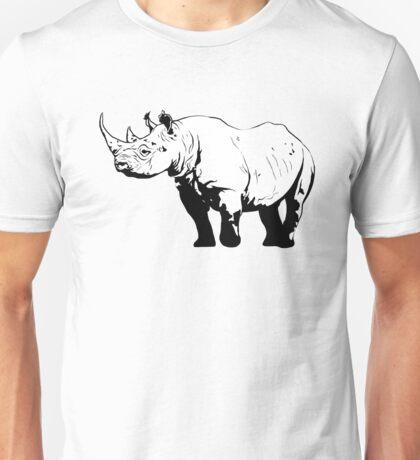 Black Rhino  Unisex T-Shirt