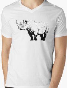 Black Rhino  Mens V-Neck T-Shirt