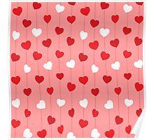 valentine' day background design Poster