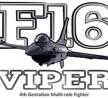 F16 fighter the Viper by rustyredbubble