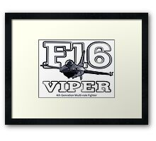 F16 fighter the Viper Framed Print