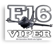 F16 fighter the Viper Canvas Print