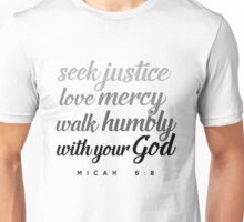 Justice Mercy Humbly Unisex T-Shirt