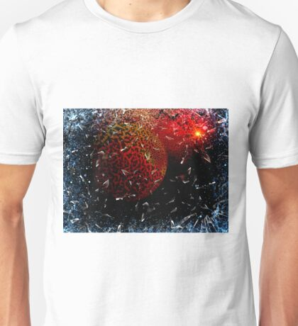 Shuttle Window Shatters Above The Red Planet Unisex T-Shirt