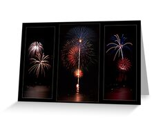 Fireworks triptych Greeting Card