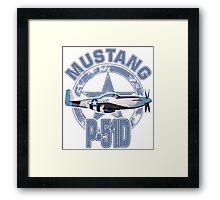 Mustang P51D Framed Print