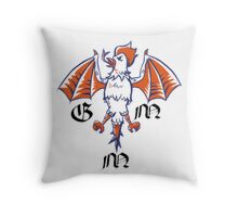 Good Mythical Morning stylized Logo Throw Pillow