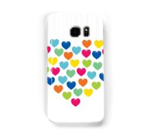 creative colorful heart design Samsung Galaxy Case/Skin