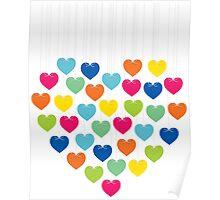 creative colorful heart design Poster