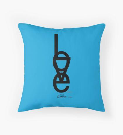 Love 33G (blue) Throw Pillow