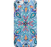 Navy-red watercolor mandala pattern iPhone Case/Skin