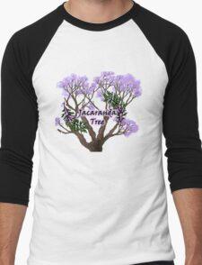 Jacaranda Tree Men's Baseball ¾ T-Shirt