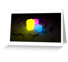 Cool Glowing Visuals Greeting Card
