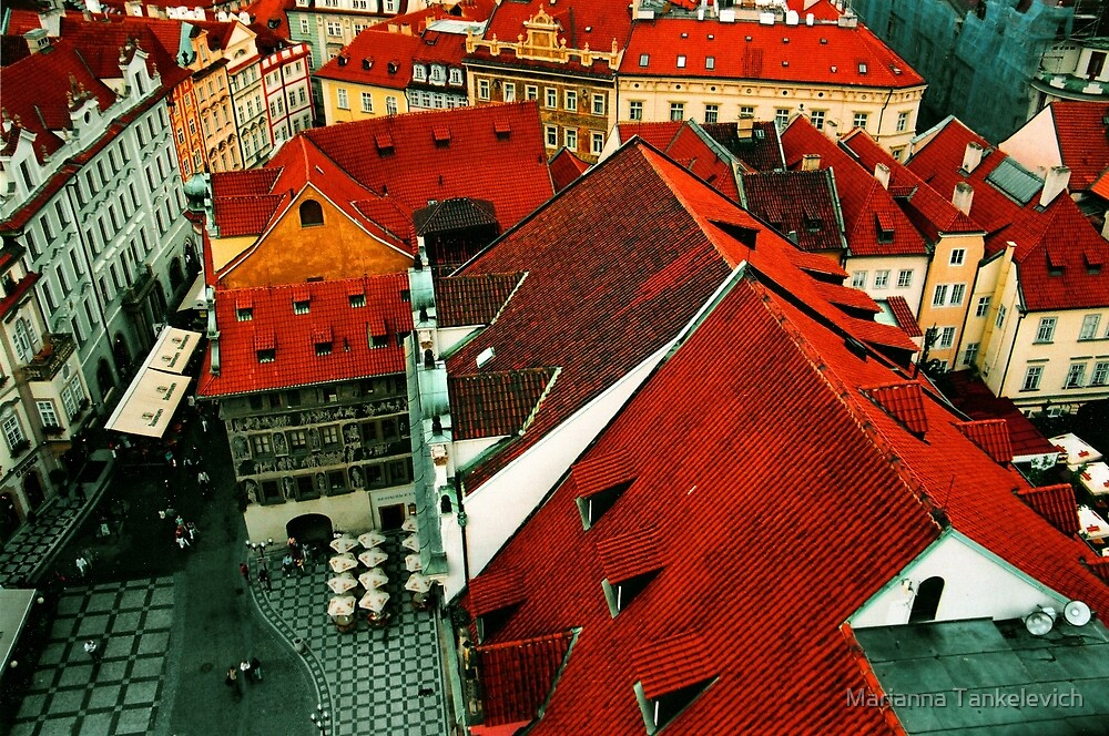 The Roofs of Prague by Marianna Tankelevich