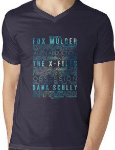 The X-Files Revival - Blue Mens V-Neck T-Shirt