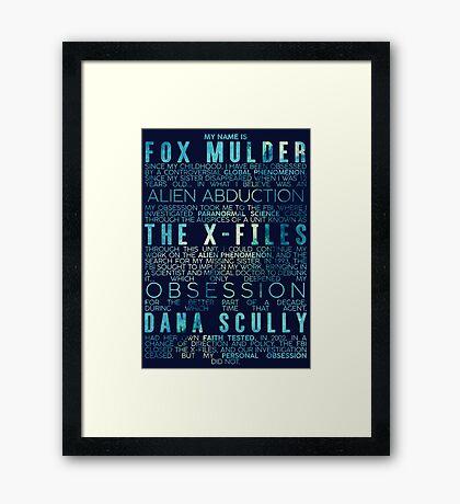 The X-Files Revival - Blue Framed Print
