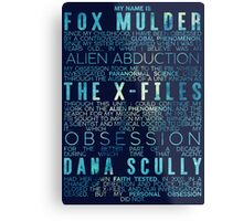 The X-Files Revival - Blue Metal Print