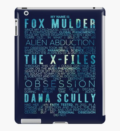 The X-Files Revival - Blue iPad Case/Skin