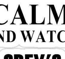 Keep calm and watch Grey's Anatomy Sticker