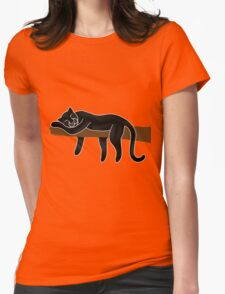 Panther Sleeping Womens Fitted T-Shirt