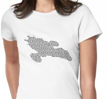 Firefly The Ballad of Serenity lyric design Womens Fitted T-Shirt