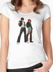 The King Of Fighters - Kyo Kusanagi Vs Iori Yagami Women's Fitted Scoop T-Shirt