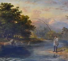 JAMES WILLIAM GILES RSA (-) Fly Fishing in Scotland  by Adam Asar