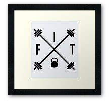 Hipster Fit Gym Quote Framed Print