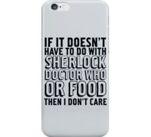 Sherlock Doctor Who and Food iPhone Case/Skin