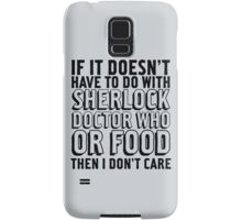 Sherlock Doctor Who and Food Samsung Galaxy Case/Skin